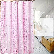 KKCF Badezimmer Verdickung Schimmel-Wasserdichte Duschvorhänge Vorhänge abgeschnitten Vorhänge Polyester-Tuch Badvorhang (11 Größen) Badezimmer ( größe : 280*200cm )