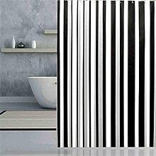 KKCF Badezimmer wasserdicht gestreiften Duschvorhang Anti - Mehltau Anti - Bakterien abgeschnitten die wärmen ziehen Vorhang (8 Größen) Badezimmer ( größe : 180*240cm )