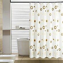 KKCF Coffee Circle Duschvorhang Mildew dicken wasserdicht Polyester Bad Duschvorhang Stoff (17 Größen) Badezimmer ( größe : 200*240cm )