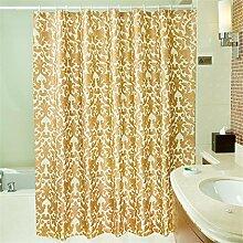 KKCF Drucken Polyester Duschvorhang Anti - Mehltau Wasserdicht dicker grün Duschvorhang (9 Größen) Badezimmer ( größe : 150*180cm )