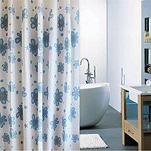 KKCF Duschvorhang Duschvorhang Stoff Partition Block Polyester Wasserdichte Schimmel Verdickung (6 Größen) Badezimmer ( größe : 240*180cm )