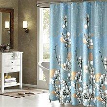 KKCF Duschvorhang Mildewproof Wasserdichte Verdickung Badezimmer Vorhang abgeschnitten Duschvorhang (12 Größen) Badezimmer ( größe : 120*180CM )