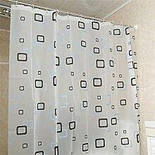 KKCF Duschvorhang PEVA Wasserdicht Anti-Schimmel-Verdickung Duschvorhang Hängesiebe (10 Größen) Badezimmer ( größe : 2*1.8M )