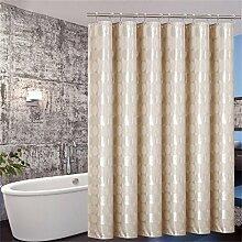 KKCF Duschvorhang Wasserdichte Verdickung Mildew Hotel Vorhangwand Shut Off The Bathroom (2 Styles / 12 Größen) Badezimmer ( farbe : B , größe : 150*180cm )