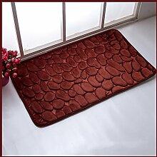 KKCF Europäische Anti-Blockier-System Absorbent Bodenmatte, Badezimmer, Küche, Schlafzimmer Teppich-Pad, multi-color optional Anti-Rutsch ( farbe : F , größe : 45*115cm )