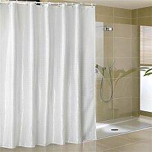 KKCF Europäische Duschvorhang Mehltau dicke wasserdichte Badezimmer Duschvorhang Tuch Trennwand (2 Farben / 14 Größen) Badezimmer ( farbe : Weiß , größe : 150*200cm )