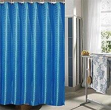 KKCF Europäische Duschvorhang Mehltau dicke wasserdichte Badezimmer Duschvorhang Tuch Trennwand (2 Farben / 14 Größen) Badezimmer ( farbe : Blau , größe : 150*200cm )