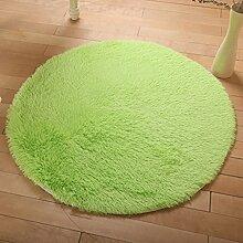 KKCF Europäische Rund Silk Wolldecke-Auflage für Wohnzimmer, Kaffee, Tisch, Teppich, Schlafzimmer, Bettvorleger Pad, Computerstuhl, Yoga-Matte, Teppich Anti-Rutsch ( farbe : B , größe : 160cm )