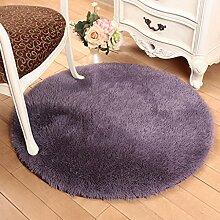 KKCF Europäische Rund Silk Wolldecke-Auflage für Wohnzimmer, Kaffee, Tisch, Teppich, Schlafzimmer, Bettvorleger Pad, Computerstuhl, Yoga-Matte, Teppich Anti-Rutsch ( farbe : A , größe : 160cm )