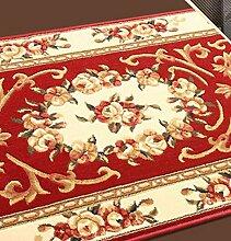KKCF Europäische Simple Home Rechteckige Teppich-Pad für Schlafzimmer, Nacht, Küche, Flur, Aisle-Matte, Teppich Anti-Rutsch ( farbe : B , größe : 0.5*1.5m )