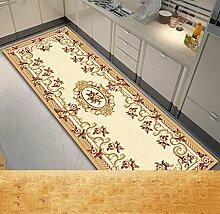 KKCF Europäische Simple Home Rechteckige Teppich-Pad für Schlafzimmer, Nacht, Küche, Flur, Aisle-Matte, Teppich, Multicolor Optional Anti-Rutsch ( farbe : C , größe : 1.0*2.0m )