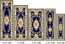 KKCF Europäische Simple Home Rechteckige Teppich-Pad für Schlafzimmer, Nacht, Küche, Flur, Aisle-Matte, Teppich, Multicolor Optional Anti-Rutsch (farbe : B, größe : 0.9*1.8m)