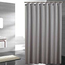 KKCF Grau Duschvorhang wasserdicht Verdickung neue Umwelt-Polyester Polyester Vorhang Duschvorhang (6 Größen) Badezimmer ( größe : 200*200cm )