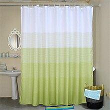 KKCF Green Polyester Duschvorhang Wasserdichte Verdickung Anti - Mehltau Badezimmer Trennvorhang (17 Größen) Badezimmer ( größe : 100*200cm )