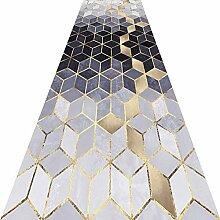 KKCF Läufer Teppiche Flur 3D Geometrie Kann