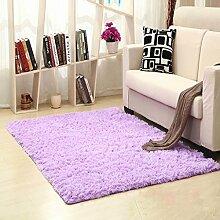 KKCF Moderne im europäischen Stil Home Hand waschbar Rectangular Teppich für Wohnzimmer, Kaffee, Tisch, Schlafzimmer, Bett Teppich Pad, Anpassung, Purple Hairy Mats Anti-Rutsch ( größe : 0.7*1.6m )