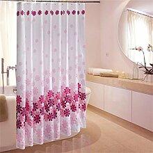 KKCF Pfirsich Duschvorhang Mehltau dick wasserdicht Polyester Duschvorhang Trennwand Umweltschutz (19 Größen) Badezimmer ( größe : 120*180CM )