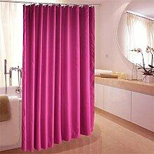 KKCF Purple Duschvorhang Polyester Tuch Umweltschutz Wasserdichte Schimmel Verdickung Duschvorhang (10 Größen) Badezimmer ( größe : 220*200cm )