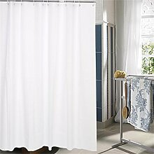 KKCF Reine weiße Plastik Duschvorhang Ring abgeschnitten Wasserdichte Schimmel Mehltau Duschvorhang (10 Größen) Badezimmer ( größe : 2*2.2m )
