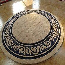 KKCF Rundteppiche, Sofa Tisch Wohnzimmer Teppich,, High-grade Teppich-Pad, Mat Anti-Rutsch ( größe : 1.4m )