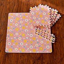 KKCF Thick Anti-Rutsch-Spliced Teppich-Pad, Matte (Satz von 2, jeder Packung von 5) mit Edge Strips Anti-Rutsch ( farbe : H , größe : (30*30cm/5)*2 )