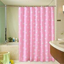 KKCF Thick Wasserdichte Duschvorhang Mehltau Duschvorhang Trennvorhänge (2 Farben / 12 Größen) Badezimmer ( farbe : Pink , größe : 80*180cm )