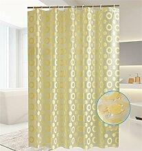 KKCF Thick Wasserdichte Duschvorhang Schimmel Badezimmer Duschvorhang Schattierung Vorhang Trennwand (2 Styles 13 Größen) Badezimmer ( farbe : A , größe : 1.8*1.8m )