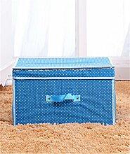 KKCF Tuch Faltbare Kleidung Aufbewahrungsbox mit