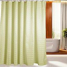 KKCF Wasserdichte Duschvorhang Dicker Polyester Mehltau Duschvorhang (11 Größen) Badezimmer ( größe : 180*220cm )