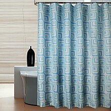 KKCF Wasserdichte Duschvorhang Polyester Blue Thick Anti-Schimmel Badezimmer Vorhänge (23 Größen) Badezimmer ( größe : 240*200cm )