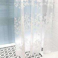 KKCF Wasserdichte Duschvorhang-Schimmel-Duschvorhang-Tuch-Teilungs-Vorhang-Duschvorhang-weiße Blumen-Rebe (4 Größen) Badezimmer ( größe : 200*200cm )