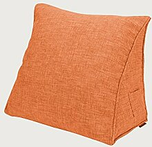 KKCFDIAN Baumwolle Bedside Kissen Bett Rückenlehne Kissen Lendenwirbel Kissen für Bedside, Stuhl, Auto, Sofa waschbar ( Farbe : G , größe : 60*50*25cm )