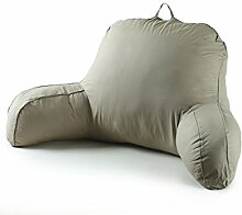 KKCFDIAN Baumwolle Bedside Kissen Bett Rückenlehne Kissen Lendenwirbel Kissen für Bedside, Stuhl, Auto, Sofa waschbar ( Farbe : Rot )