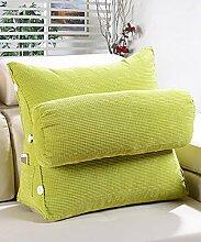 KKCFDIAN Baumwolle Bedside Kissen Bett Rückenlehne Kissen Lendenwirbel Kissen für Bedside, Stuhl, Auto, Sofa waschbar ( Farbe : J , größe : M )