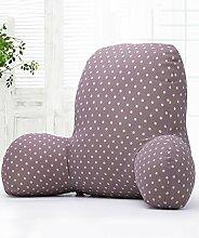 KKCFDIAN Baumwolle Bedside Kissen Bett Rückenlehne Kissen Lendenwirbel Kissen für Bedside, Stuhl, Auto, Sofa waschbar ( Farbe : B , größe : 3 )