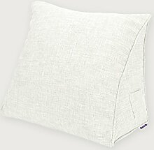 KKCFDIAN Baumwolle Bedside Kissen Bett Rückenlehne Kissen Lendenwirbel Kissen für Bedside, Stuhl, Auto, Sofa waschbar ( Farbe : K , größe : 45*40*15cm )