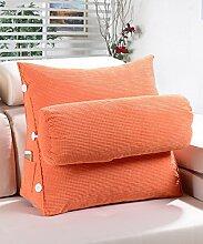 KKCFDIAN Baumwolle Bedside Kissen Bett Rückenlehne Kissen Lendenwirbel Kissen für Bedside, Stuhl, Auto, Sofa waschbar ( Farbe : D , größe : S )