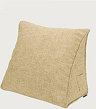 KKCFDIAN Baumwolle Bedside Kissen Bett Rückenlehne Kissen Lendenwirbel Kissen für Bedside, Stuhl, Auto, Sofa waschbar ( Farbe : B , größe : 45*40*15cm )