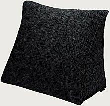KKCFDIAN Baumwolle Bedside Kissen Bett Rückenlehne Kissen Lendenwirbel Kissen für Bedside, Stuhl, Auto, Sofa waschbar ( Farbe : J , größe : 45*40*15cm )