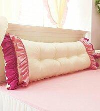KKCFDIAN Baumwolle Bett Kissen Doppelbett Rückenlehne Kissen Bedside Big Headboard Kissen ( Farbe : Lila , größe : 1.45m )