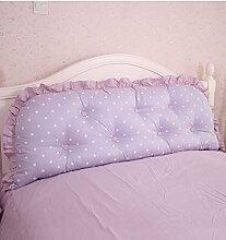 KKCFDIAN Baumwolle Bett Kissen Doppelbett Rückenlehne Kissen Bedside Big Headboard Kissen ( Farbe : C , größe : 1.8m )
