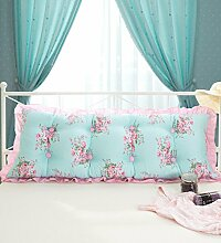 KKCFDIAN Baumwolle Bett Kissen Doppelbett Rückenlehne Kissen Bedside Big Kopfteil Kissen waschbar ( Farbe : D , größe : 1.8m )