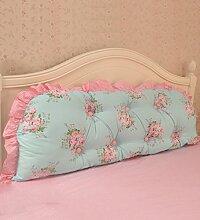KKCFDIAN Baumwolle Bett Kissen Doppelbett Rückenlehne Kissen Bedside Big Headboard Kissen ( Farbe : A , größe : 2m )