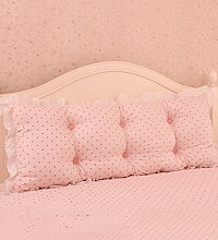 KKCFDIAN Baumwolle Bett Kissen Doppelbett Rückenlehne Kissen Bedside Big Headboard Kissen ( Farbe : Pink , größe : 2m )