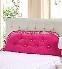 KKCFDIAN Baumwolle Bett Kissen Doppelbett Rückenlehne Kissen Bedside Big Headboard Kissen ( Farbe : C , größe : 1.5m )
