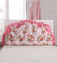 KKCFDIAN Baumwolle Bett Kissen Doppelbett Rückenlehne Kissen Bedside Big Kopfteil Kissen waschbar ( Farbe : F , größe : 1.8m )