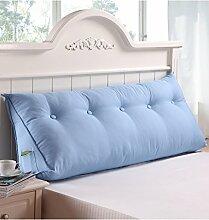 KKCFDIAN Baumwolle Bett Kissen Doppelbett Rückenlehne Kissen Bedside Big Headboard Kissen ( Farbe : E , größe : 100*25*50cm )