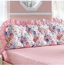 KKCFDIAN Baumwolle Bett Kissen Doppelbett Rückenlehne Kissen Bedside Big Headboard Kissen ( Farbe : B , größe : 1.8*0.6m )