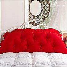 KKCFDIAN Baumwolle Bett Kissen Doppelbett Rückenlehne Kissen Bedside Big Headboard Kissen ( Farbe : E , größe : 1.2m )
