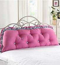 KKCFDIAN Bettseite Rückenlehne Baumwolle Bett Kissen Doppelbett Rückenlehne Kissen Bedside Big Kopfteil Kissen waschbar ( Farbe : D , größe : 180*55cm )